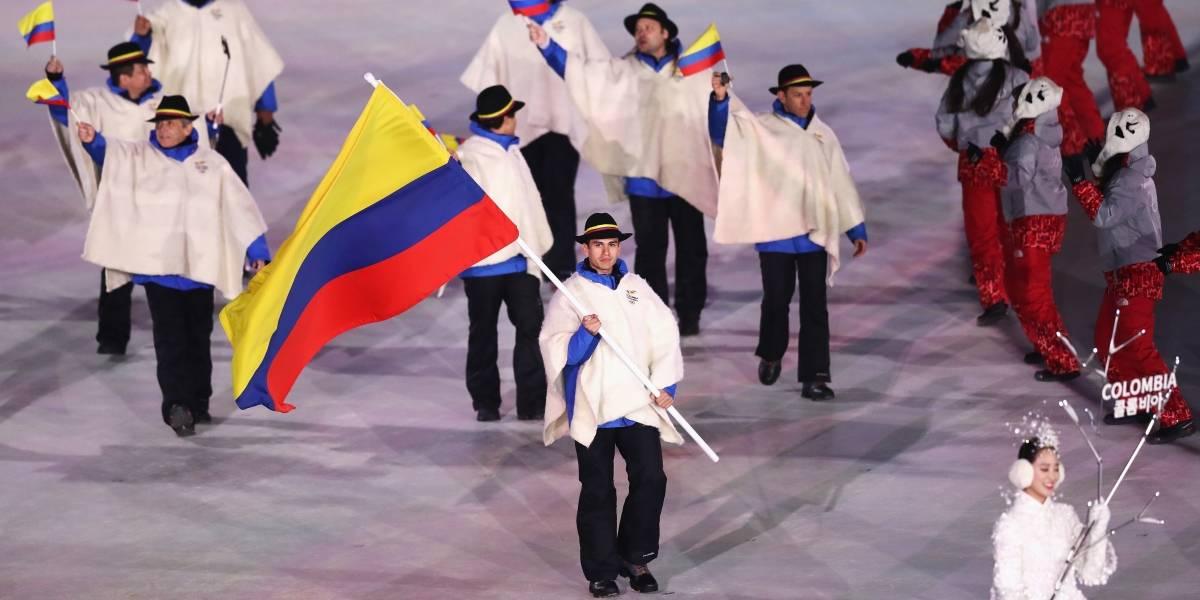 La delegación de Colombia se puso de ruana los Juegos Olímpicos de Invierno