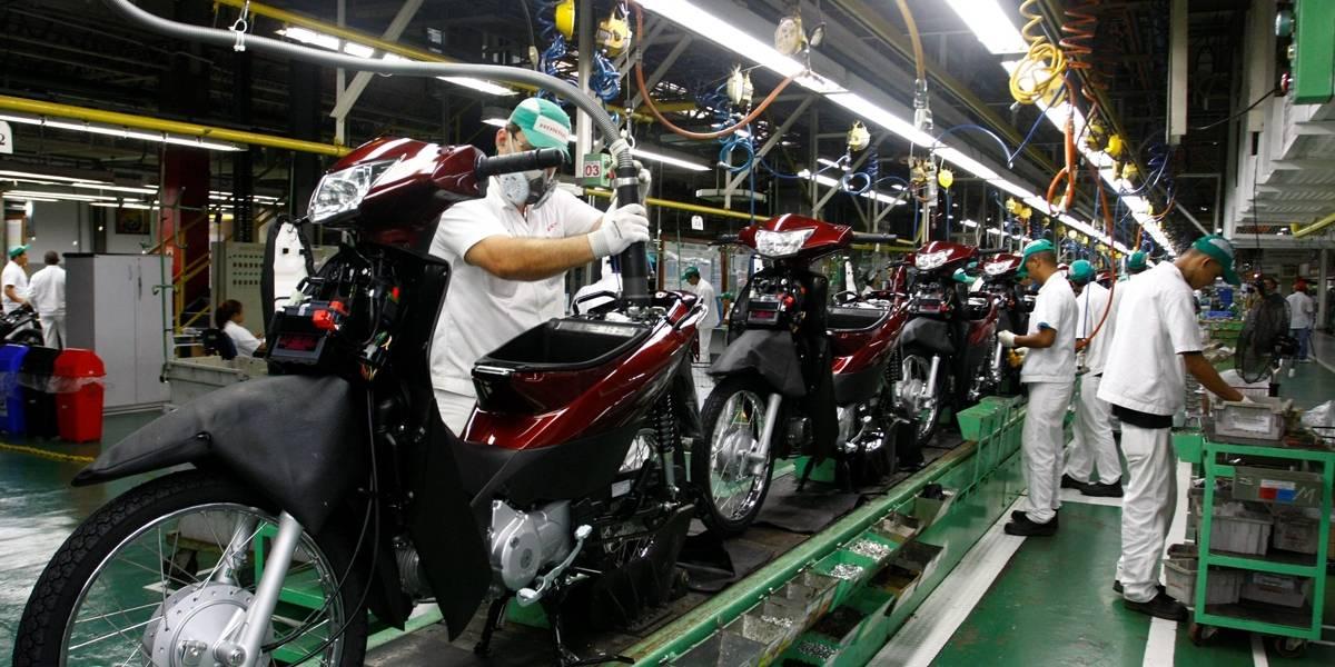 Fabricantes reduzem o ritmo e produção de motos recua 0,4% em janeiro