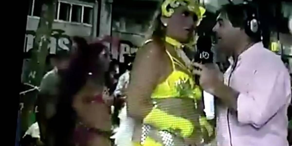 """""""¿De cuánto estás embarazada?"""": La desubicada pregunta de un notero a una bailarina en el carnaval en Uruguay"""