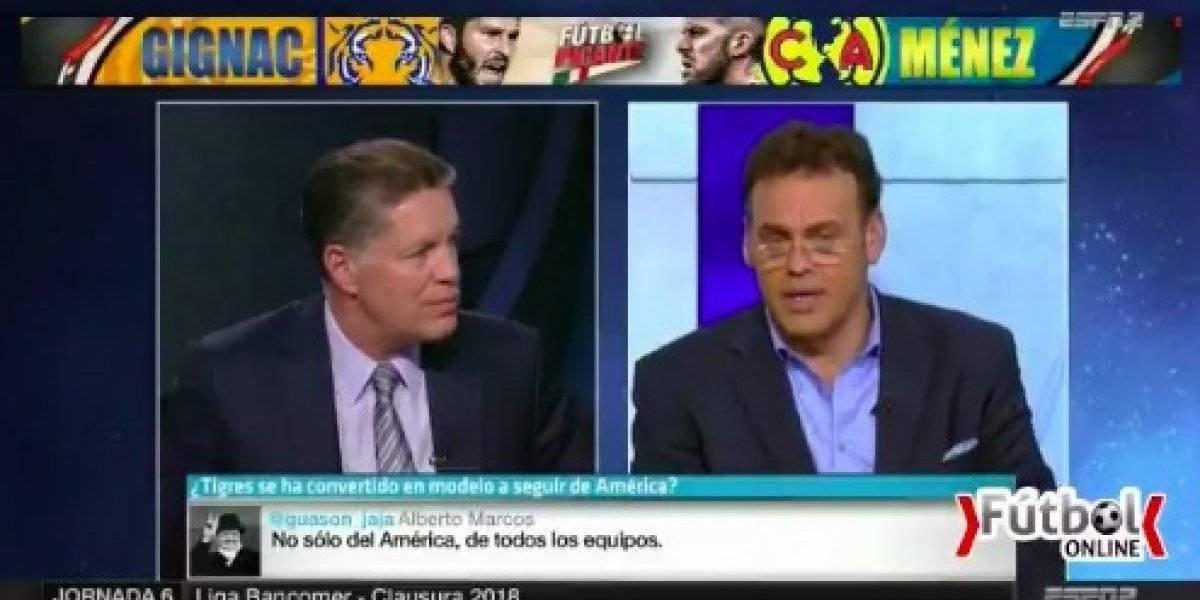 VIDEO. Exfutbolista insulta a David Faitelson y se retan en programa en vivo