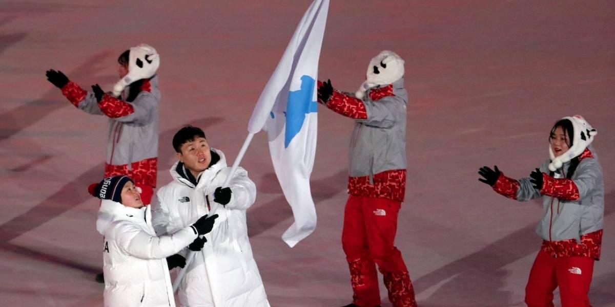 Olimpíadas de Inverno: delegações das Coreias entram sob bandeira única em estádio
