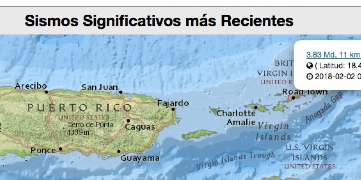 Registran dos sismos en Puerto Rico