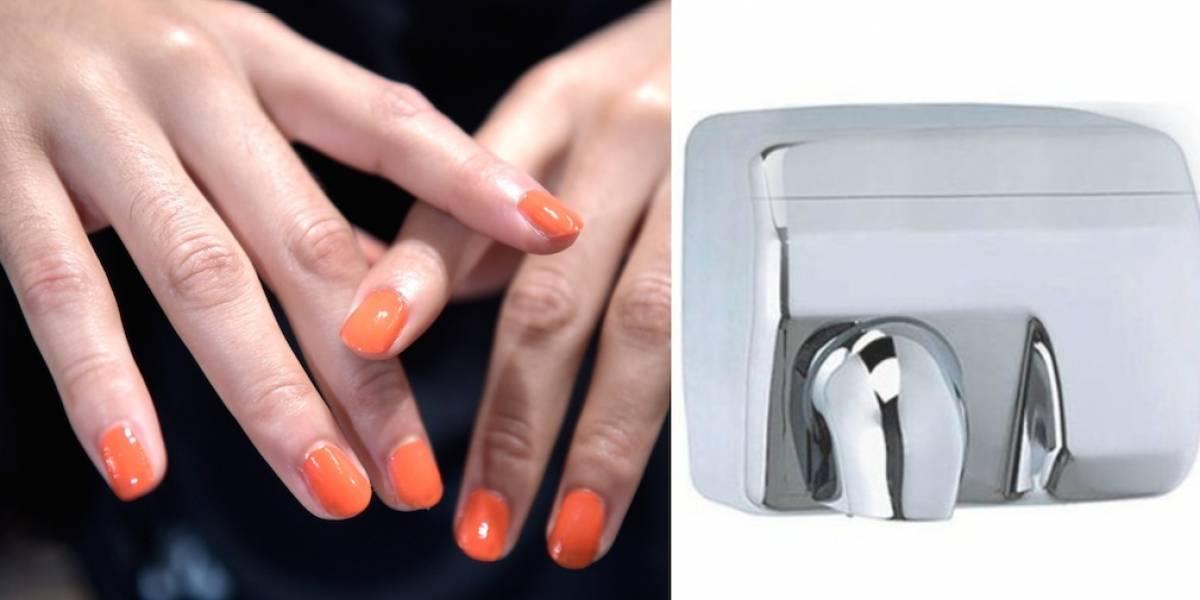 Impactante imagen de hongos en los secadores de manos públicos