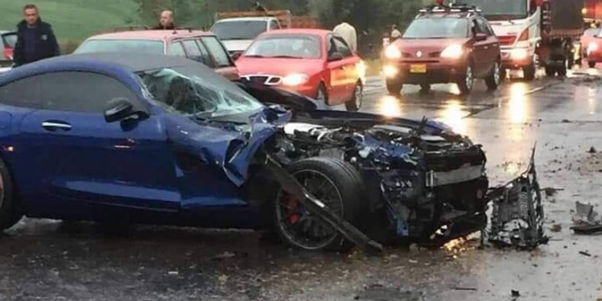 Revelan video del choque de un Porsche, un Mercedes y un McLaren