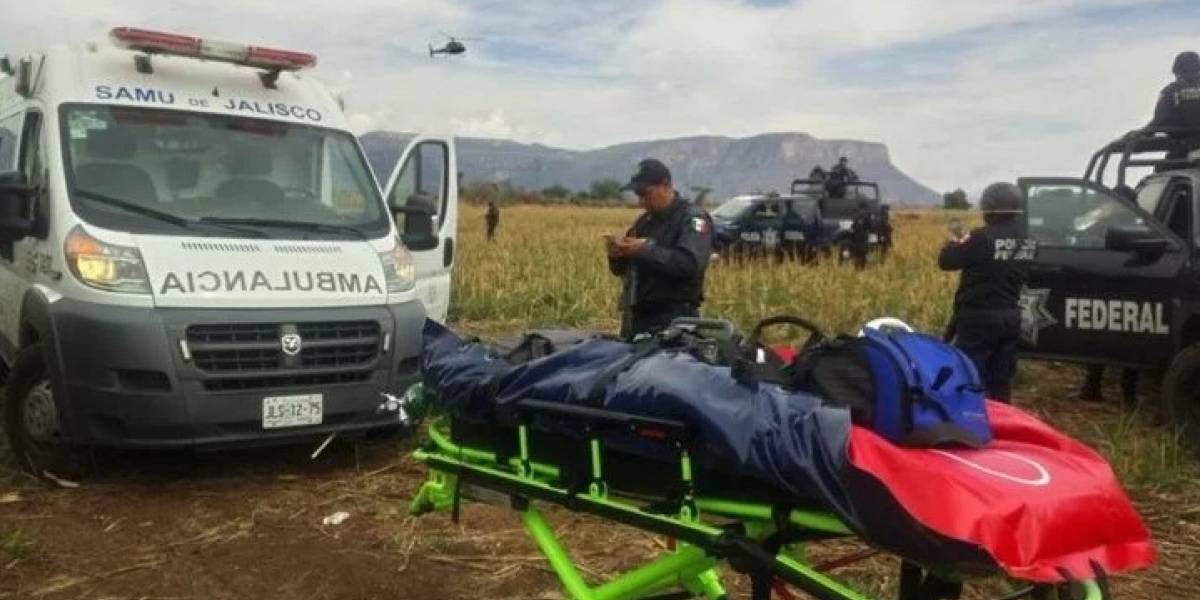 Cables causan desplome de helicóptero de la Policía Federal en Jalisco