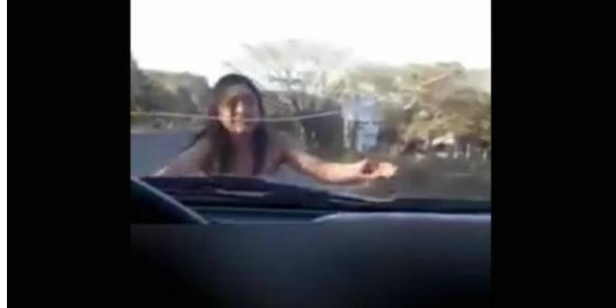 VIDEO. El angustioso pedido de auxilio de una joven en carretera de Chiapas