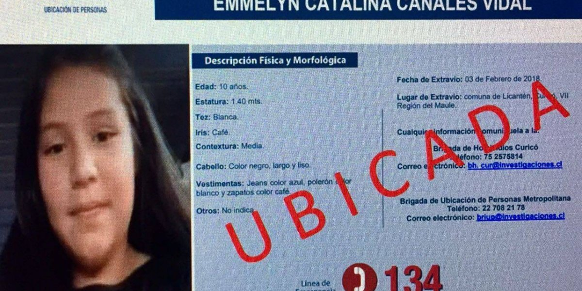 Licantén: secuestrador entregó a Emmelyn esta madrugada para evitar ser linchado por los vecinos