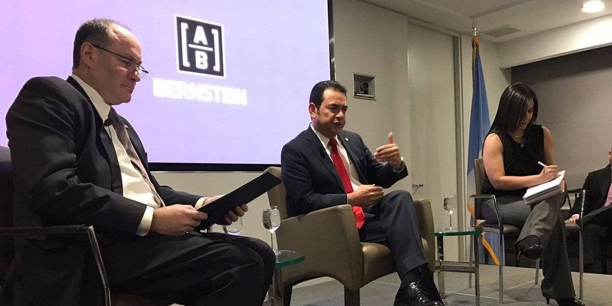 Jimmy Morales se reúne con dirigentes empresariales en Nueva York
