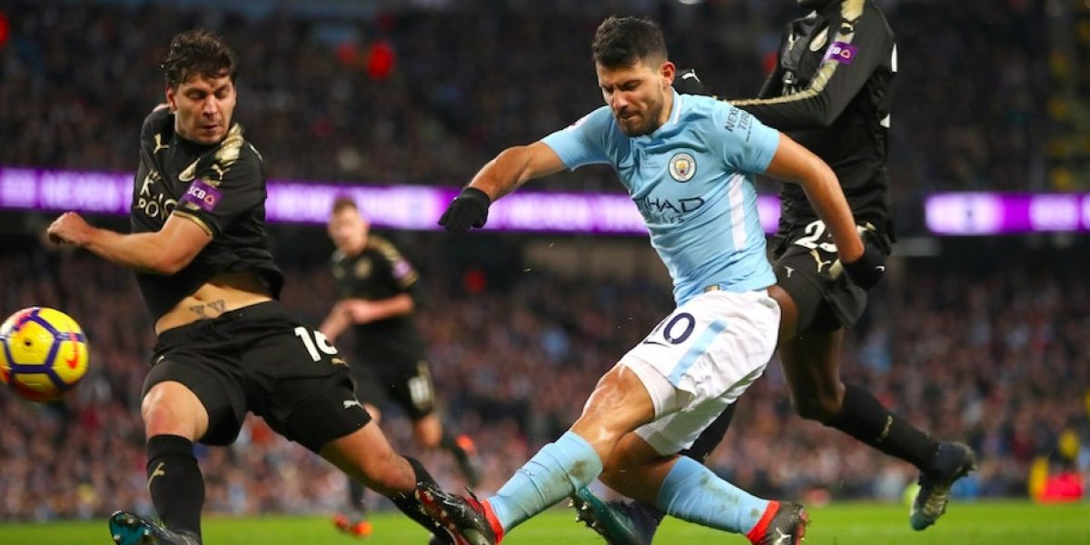 'Kun' Agüero y Manchester City golean al Leicester