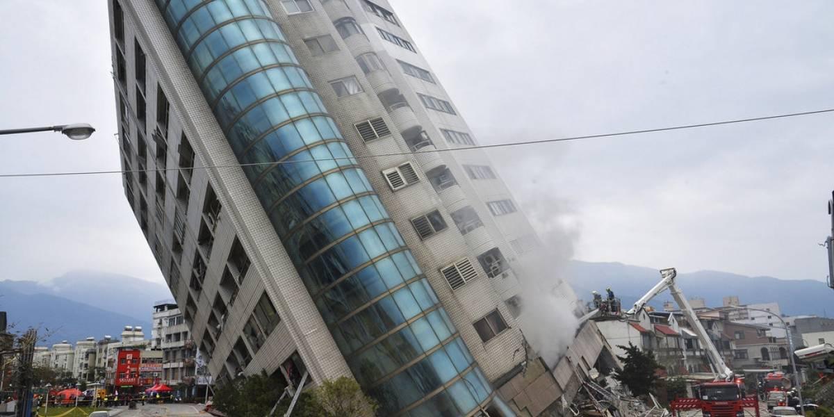 Suben a 14 los muertos en el terremoto de Taiwán