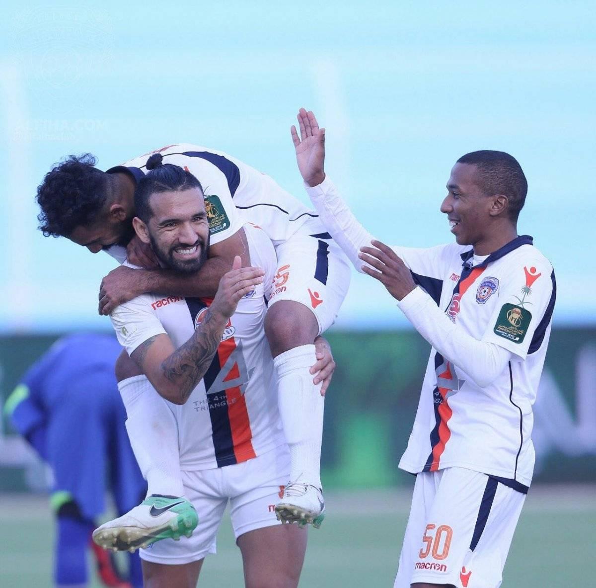 Fernández es la figura del Al Feiha, que vive su primera temporada en la máxima división del fútbol saudí / Foto: Gentileza