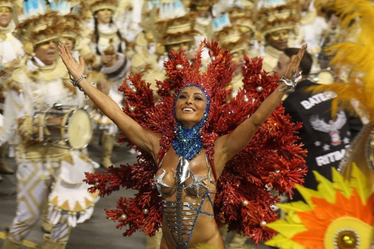 """Desfile da escola de samba """"Gaviões da Fiel"""" Código19/Folhapress"""