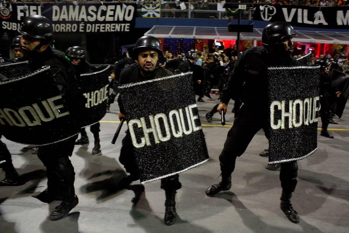 """Desfile da escola de samba """"Vai-Vai"""" Código19/Folhapress"""