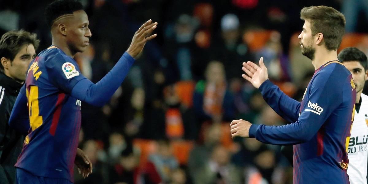 Yerry Mina será titular con el Barcelona ante el Getafe por la Liga de España