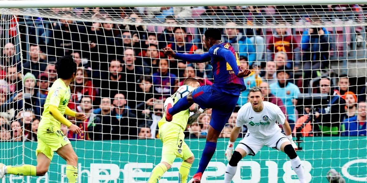El buen debut de Yerry Mina en la titular del Barcelona: solo faltó el gol