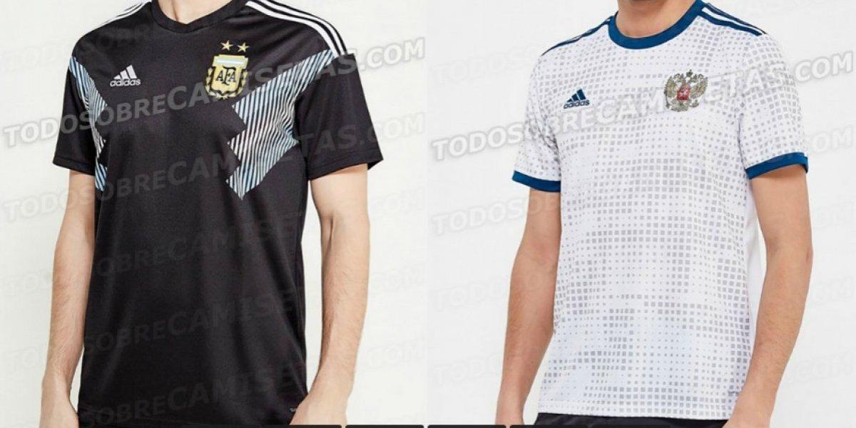 FOTOS: Filtran uniforme de visitante de Argentina y Rusia para el Mundial