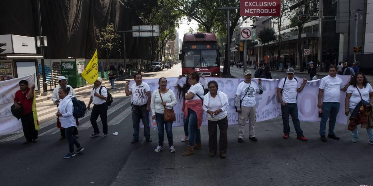 Marchas y plantones afectan centro y oriente de la CDMX