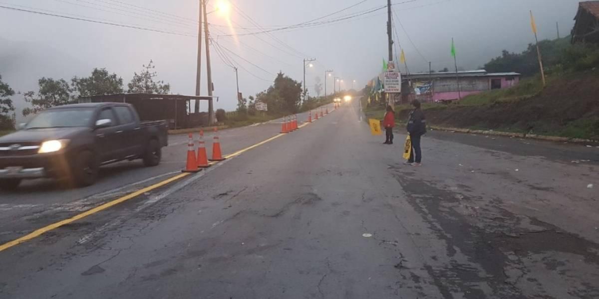 La vía Calacalí-Río Blanco está habilitada sin restricción de horarios