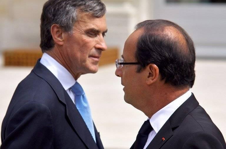 Jérôme Cahuzac y François Hollande