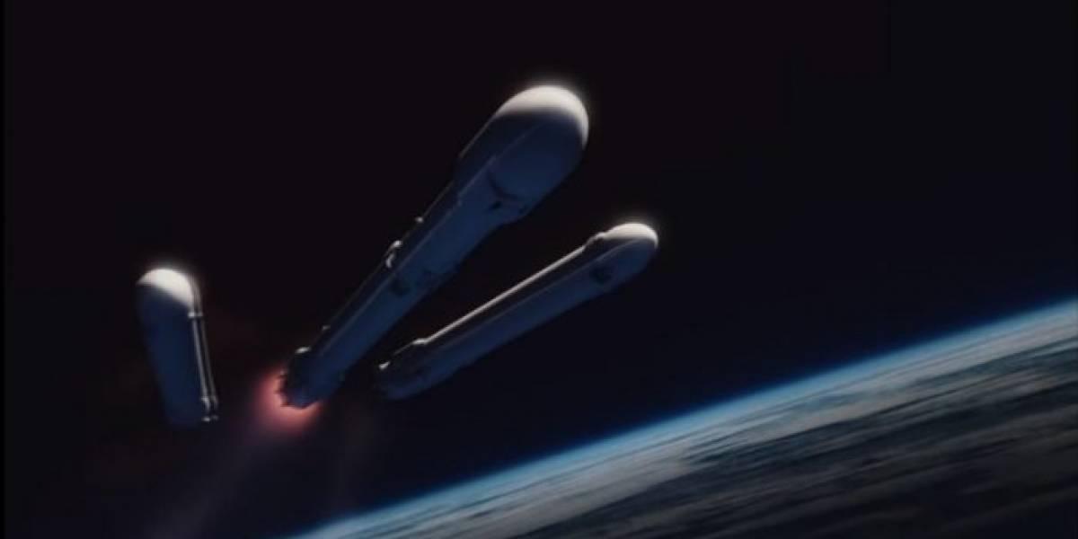 El cohete central del Falcon Heavy finalmente falló al aterrizar
