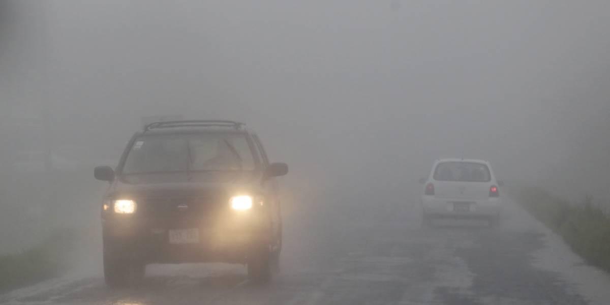 Este lunes se esperan bancos de niebla en el oriente y sureste del país