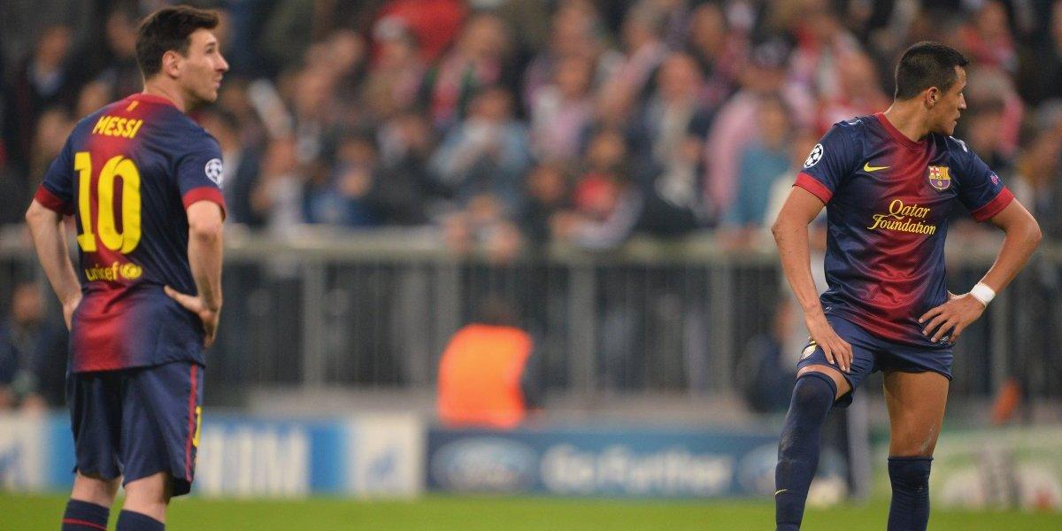 "Alexis reveló la tragedia del camarín culé tras perder ante el Chelsea en Champions: ""Vi a Messi llorar"""
