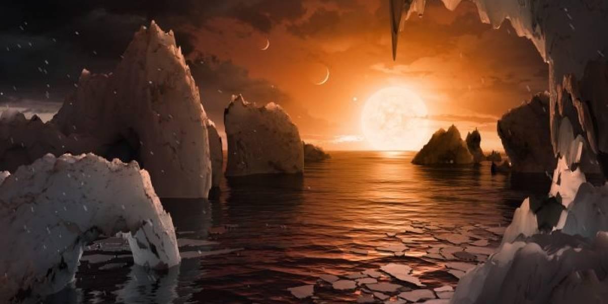 Sí hay agua en los siete planetas del sistema TRAPPIST-1