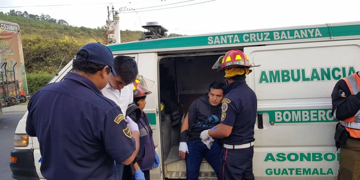 Motoristas lesionados en accidente en la ruta Interamericana