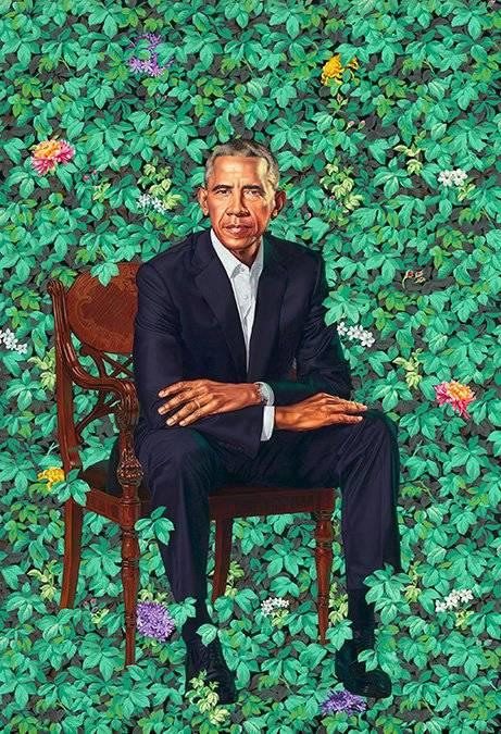 Ambos retratos fueron pintados por artistas afroamericanos.