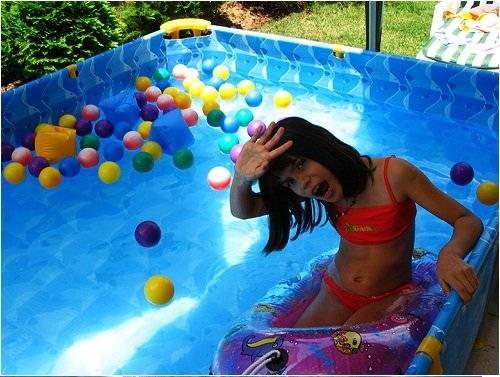 La cl sica piscina de pl stico del verano belel nueva for Parches para piscinas de plastico