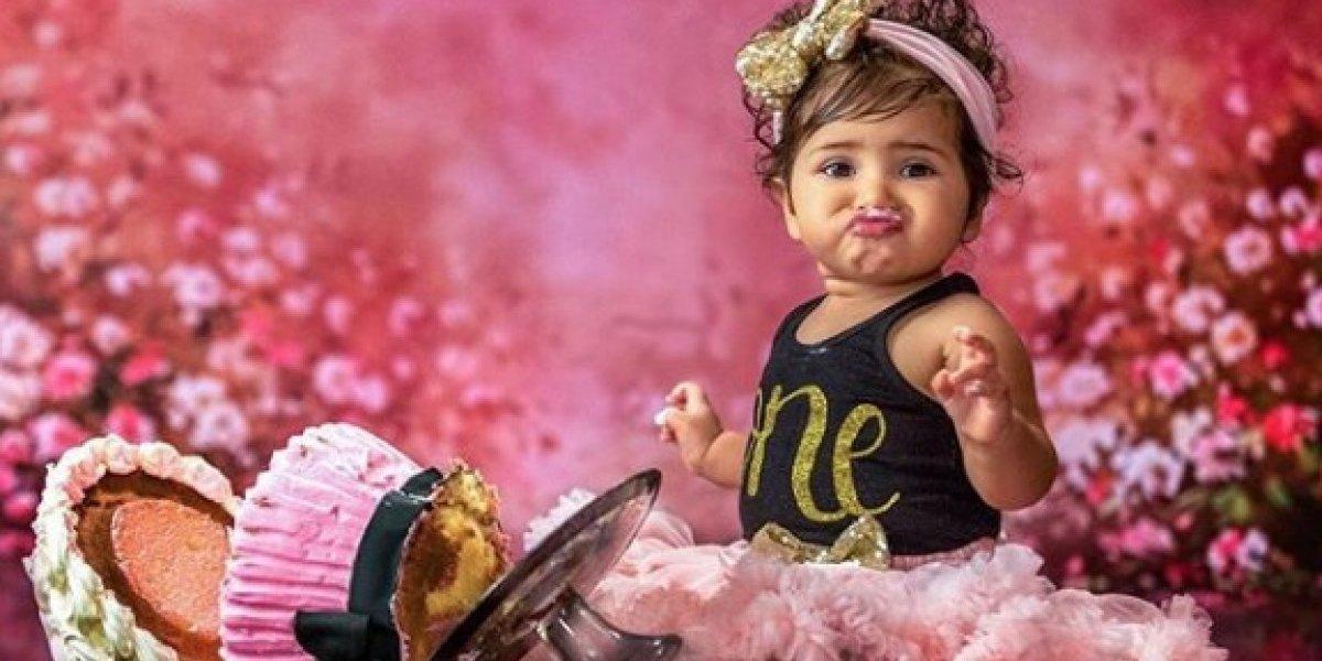 Milena celebra primer año de vida