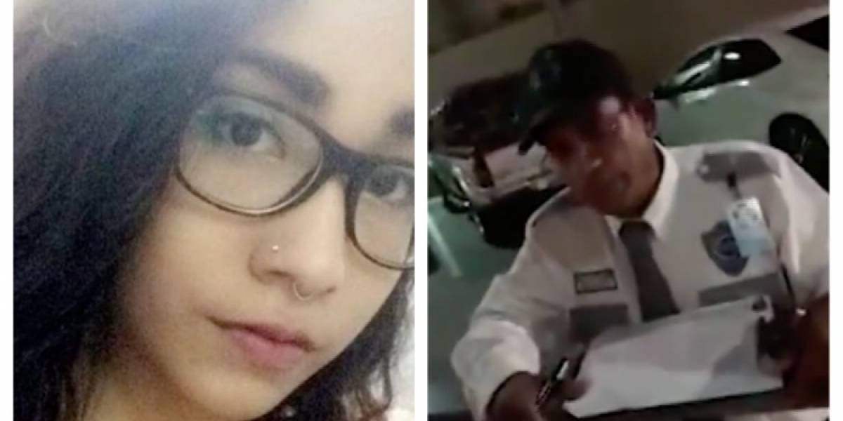 VIDEO: Mujer acusa a policía de acosarla porque le dijo 'adiós'