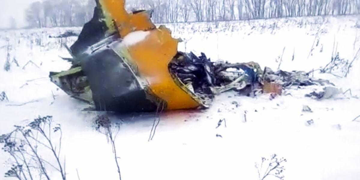 VIDEO. Momento exacto en el que se estrelló el avión ruso An-148
