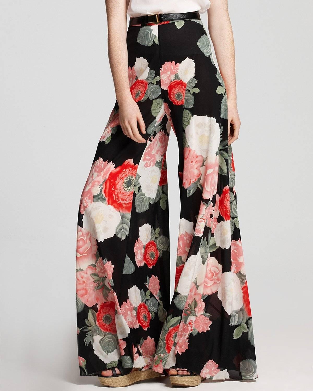 Tendencias Hoy Pantalones Floreados Belelu Nueva Mujer