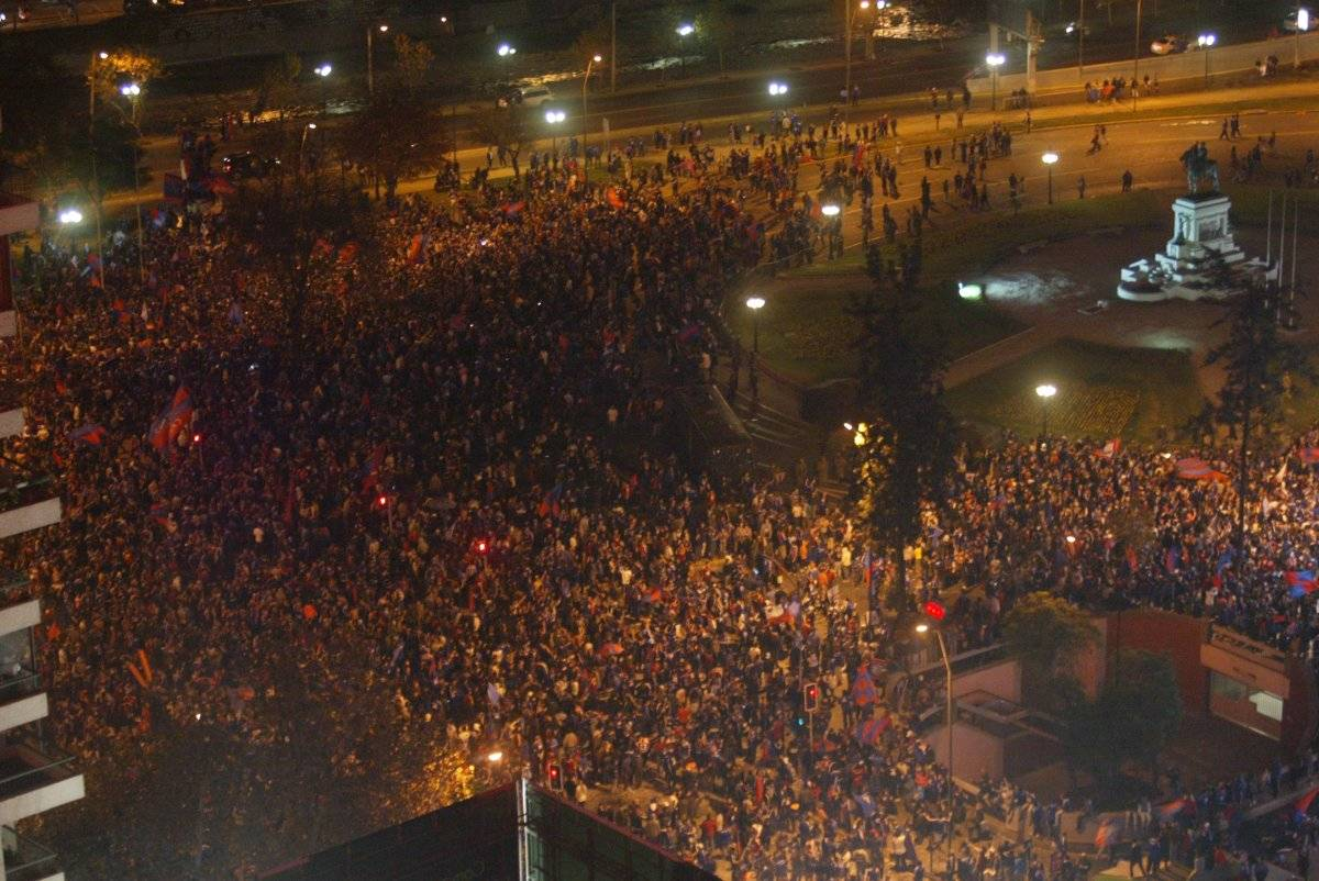Celebracion de Universidad de Chile tras el Triunfo 005