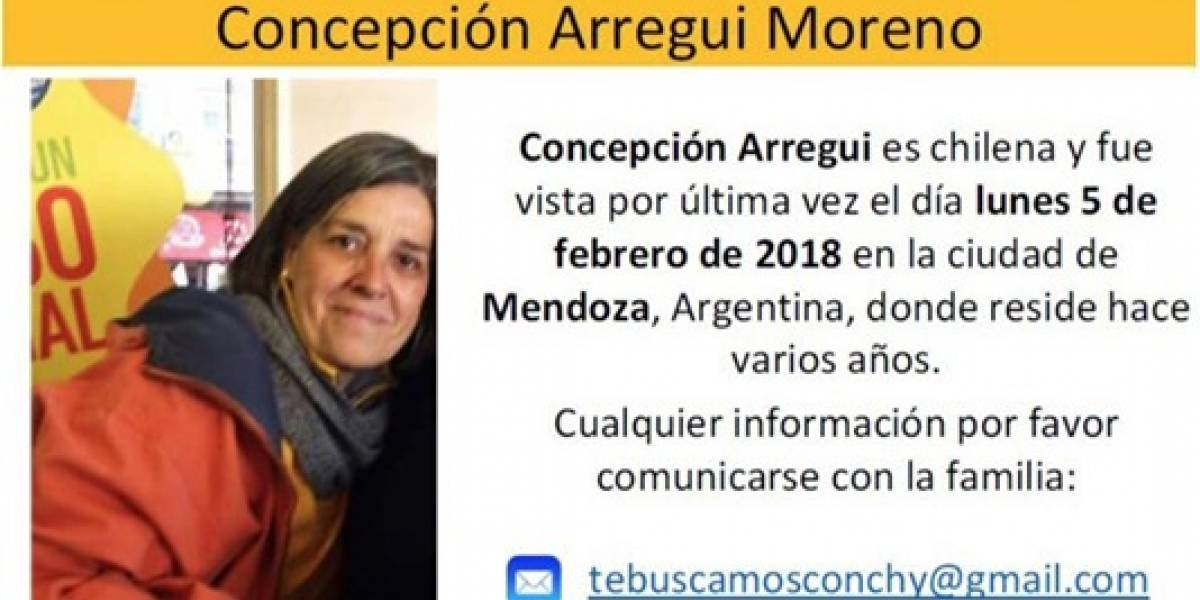 Cancillería ayudará a buscar a prima de Carolina Arregui desaparecida en Mendoza