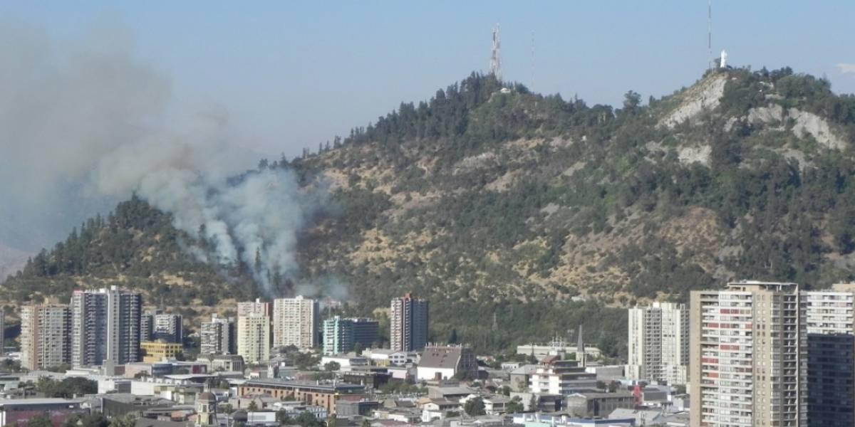 Un incendio forestal afecta al cerro San Cristóbal