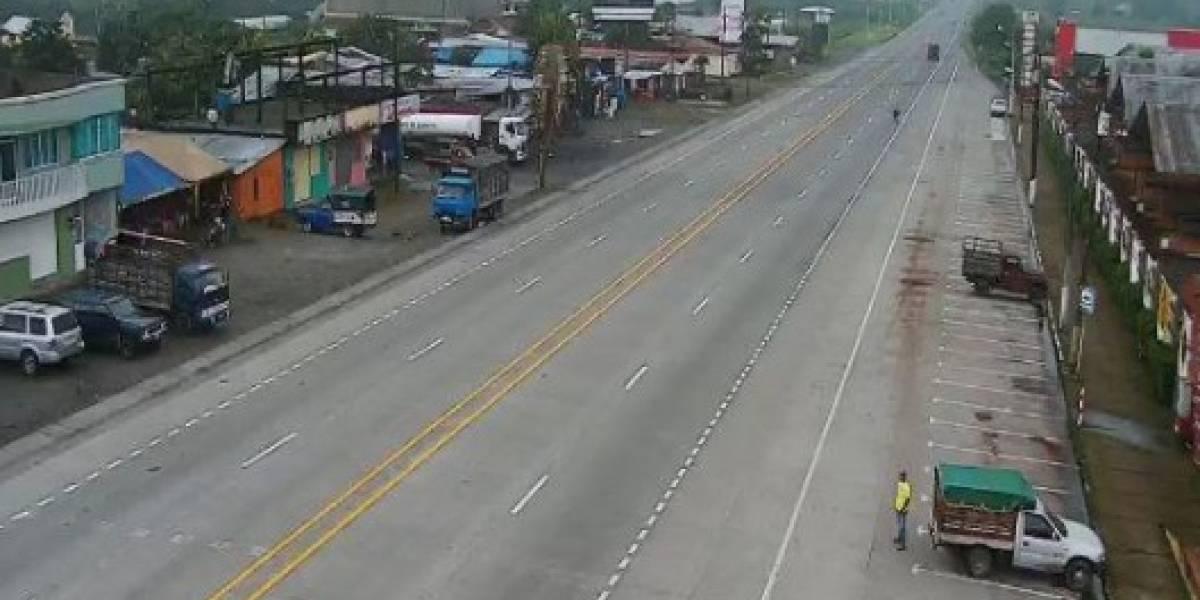 La vía Alóag – Santo Domingo se encuentra parcialmente habilitada