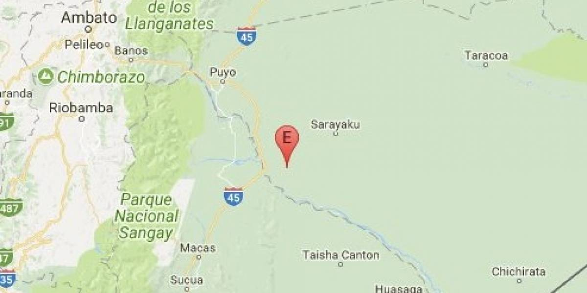 Registran sismo en Puyo, Pastaza