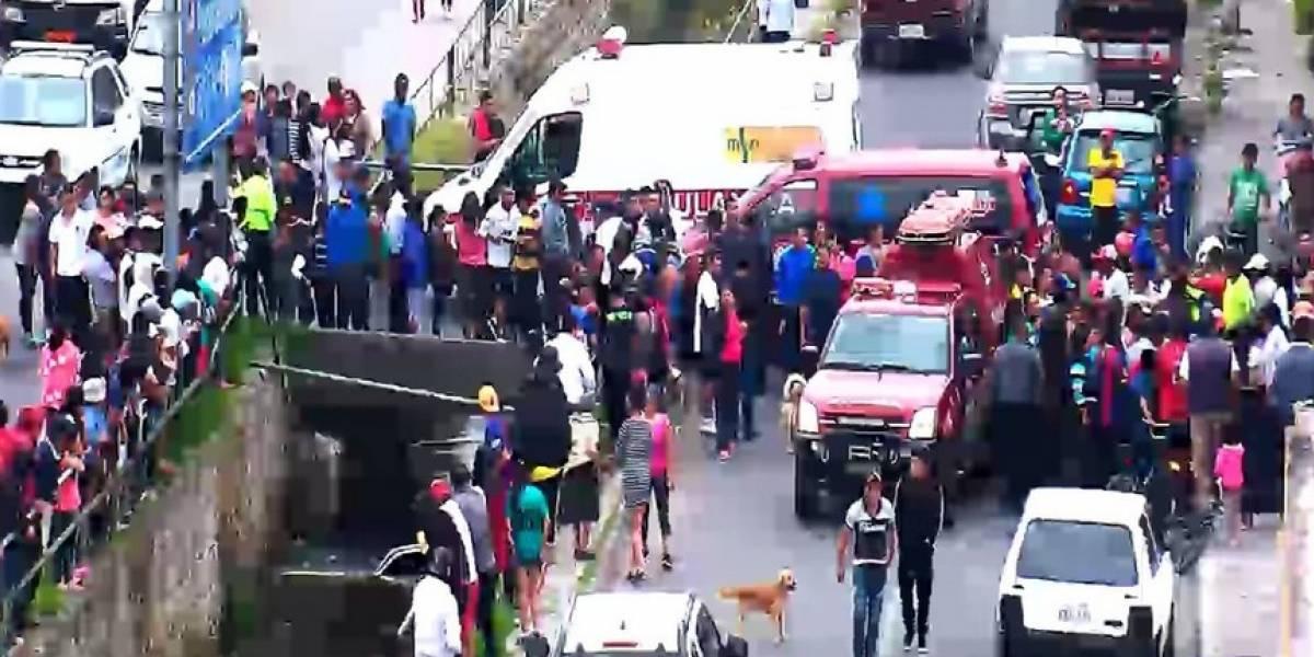 Reportan accidente de tránsito en Riobamba