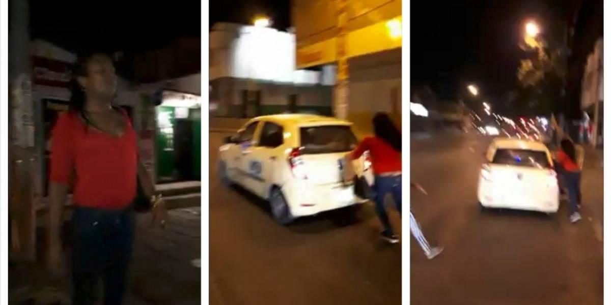 Mujer transgénero golpea a un sujeto porque no le pagó un servicio