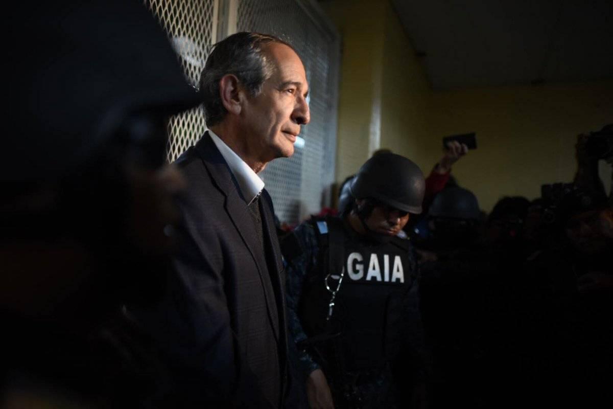 Álvaro Colom, detenido en Guatemala