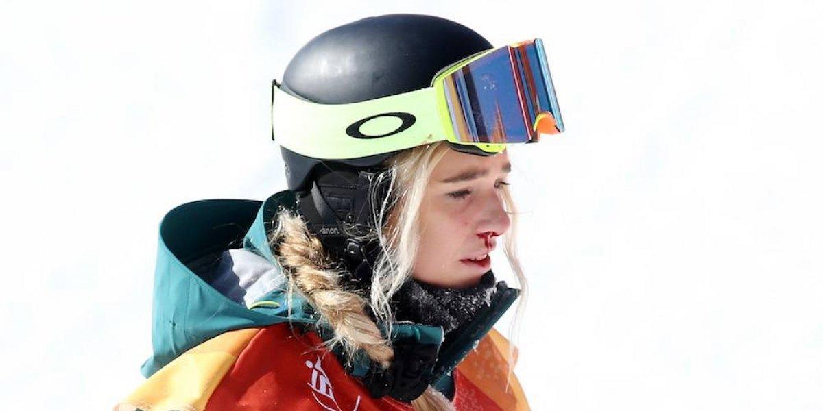 Australiana Emily Arthur sufre dura caída en PyeongChang 2018