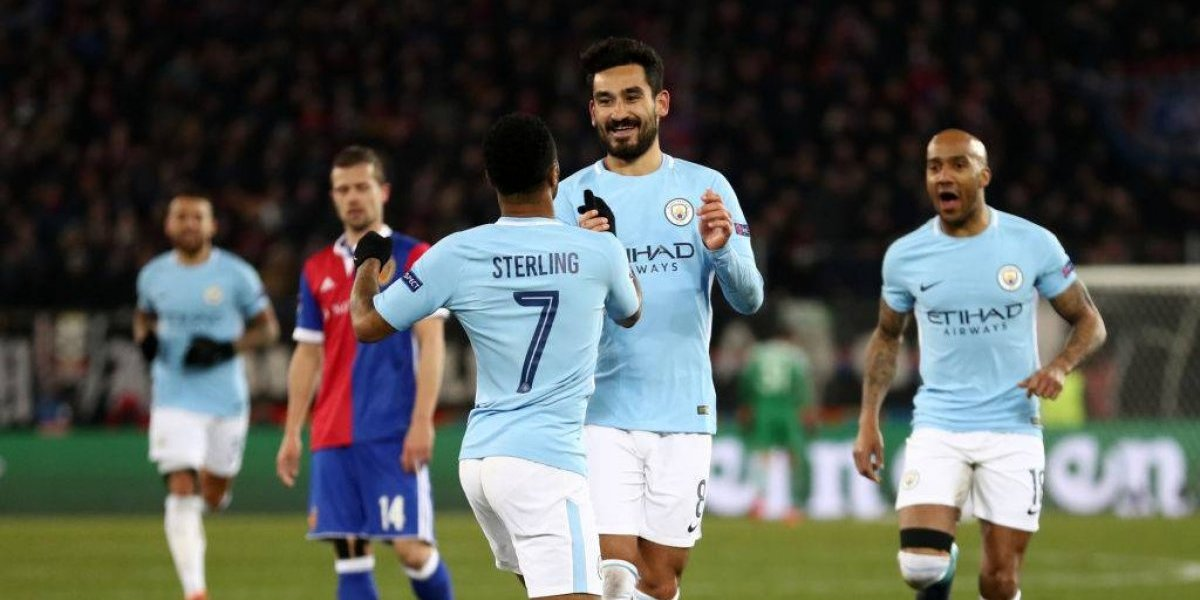 Manchester City goleó a Basilea y prácticamente selló su clasificación a los cuartos de final en la Champions