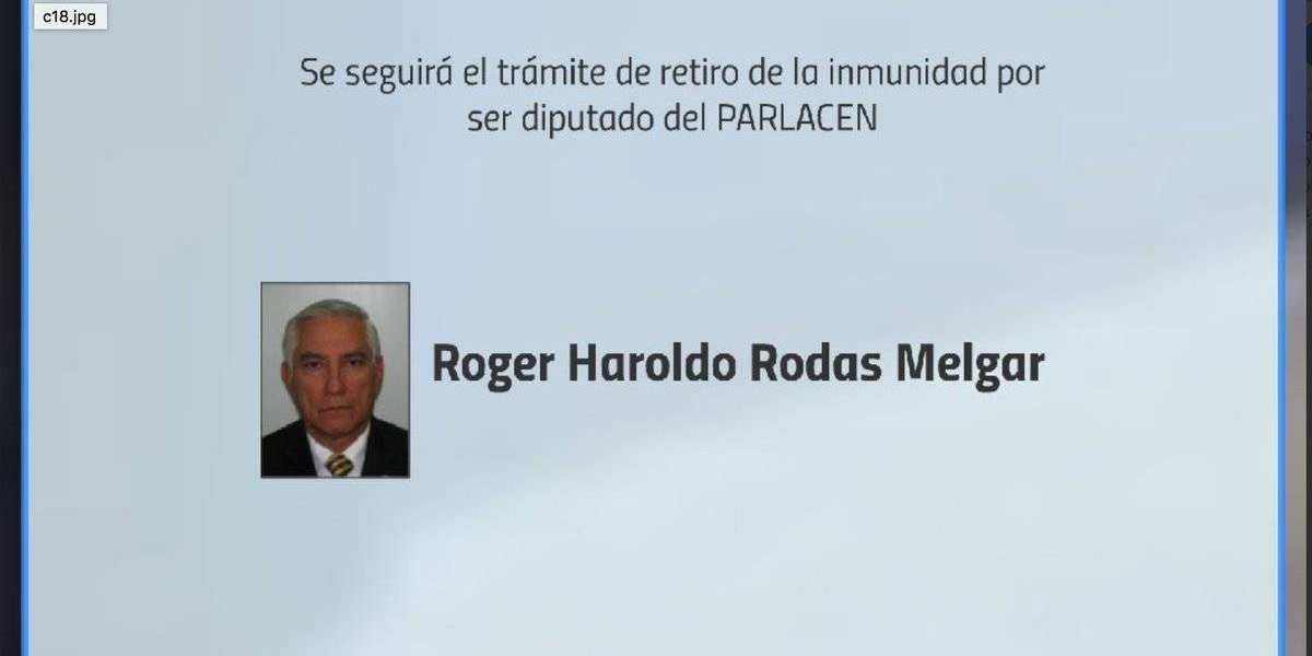 Solicitarán retiro de inmunidad de diputado al Parlacen Haroldo Rodas