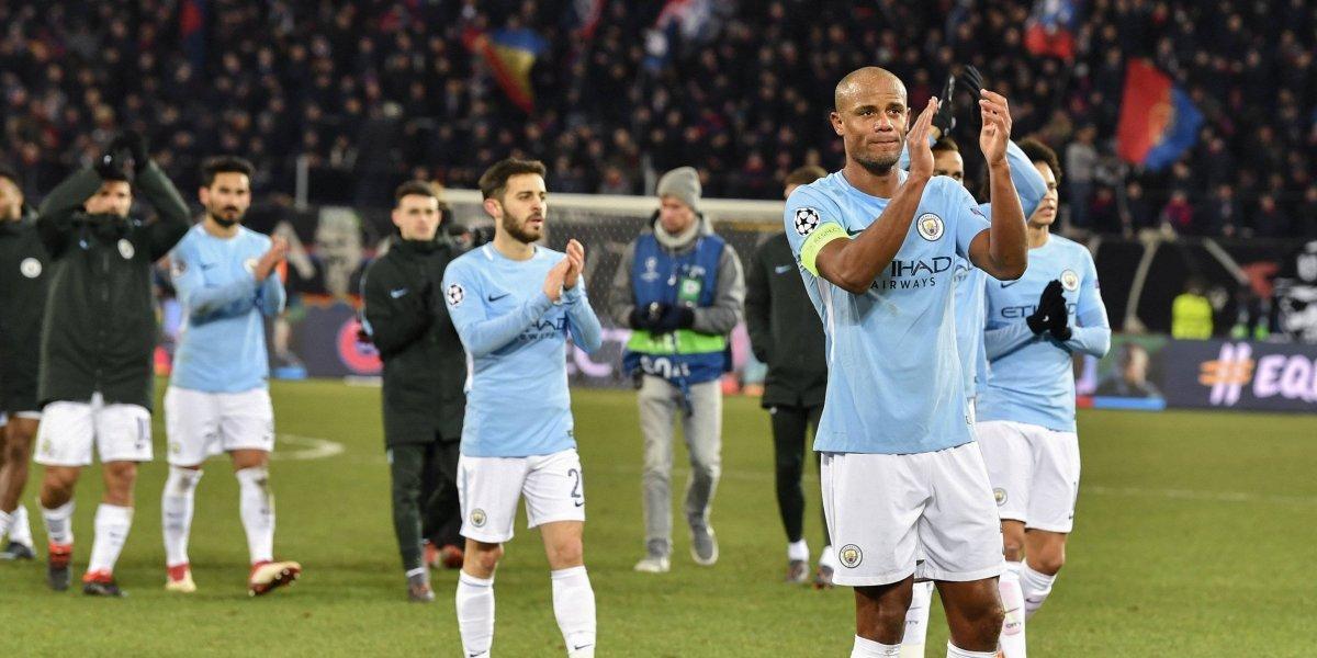 Champions: Manchester City golea a Basilea y tiene un pie en cuartos de final