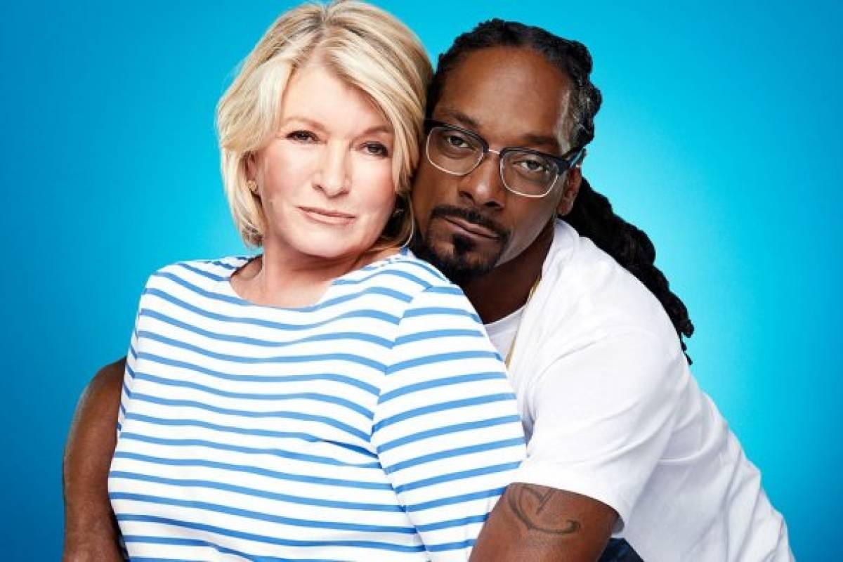 Martha Stewart y Snoop Dogg en escena de \