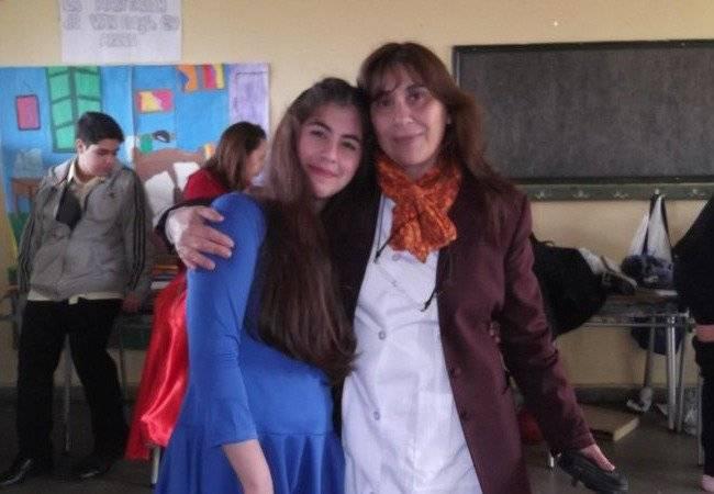 Paula Díaz y madre
