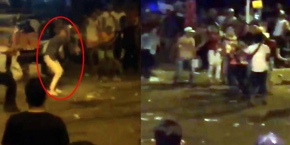 A cuchillo y botella se enfrentaron en zona al norte de Barranquilla en el Carnaval