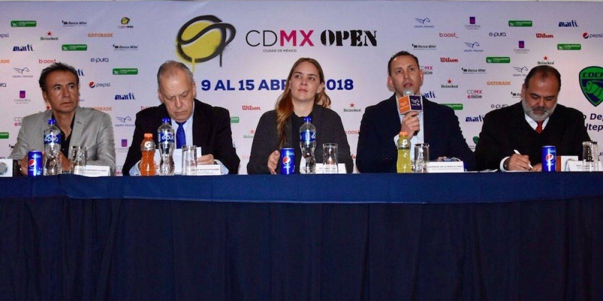 Anuncian primera edición del CDMX Open de tenis